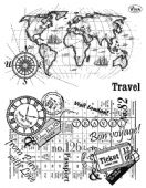 Viva Decor Clear Silicone A5 Stamp Set - Travel - 4003 110 00